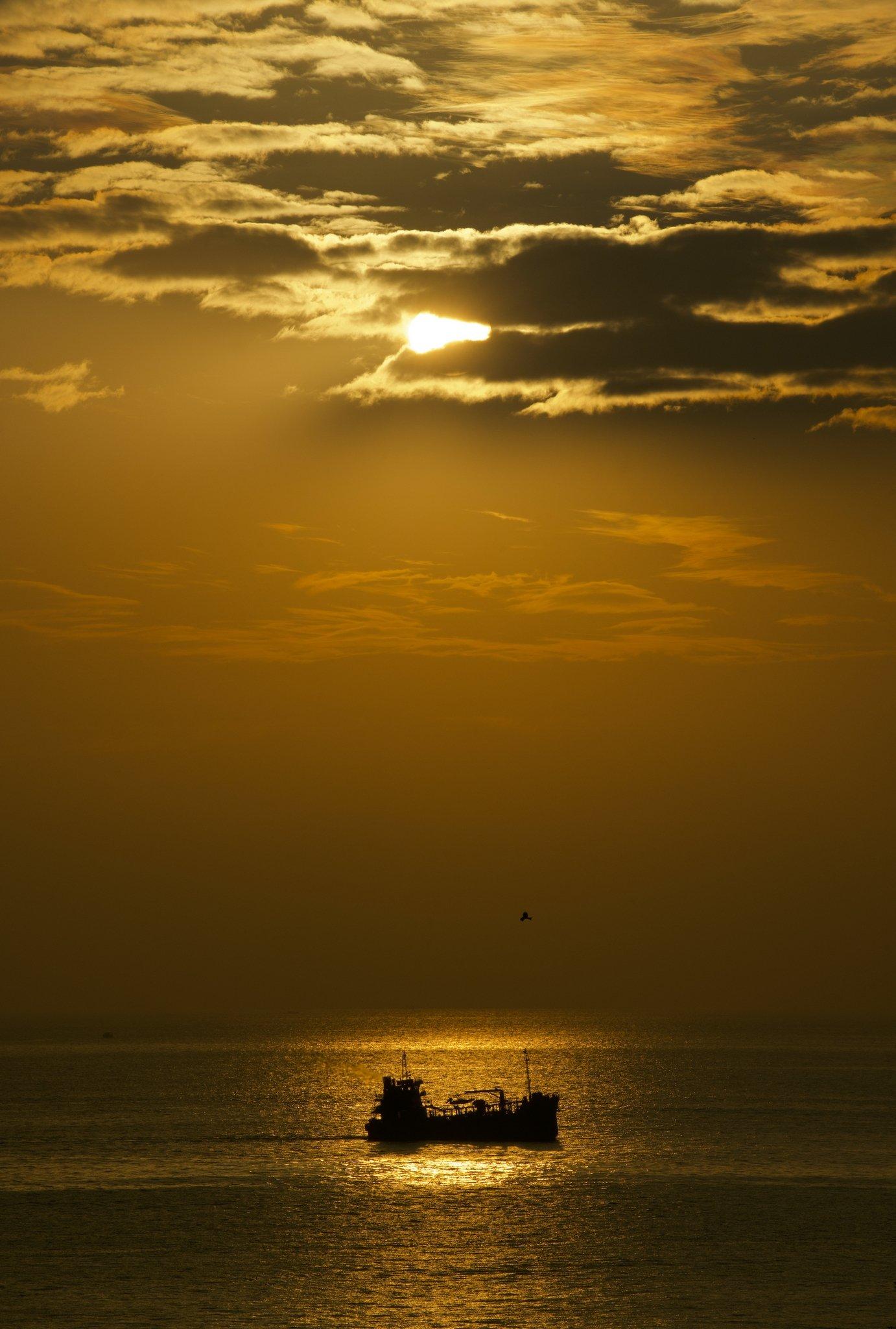 8. Sunset at Sea